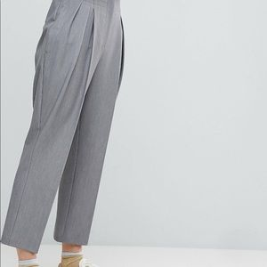 ASOS tailored cropped dress pants grey size 12